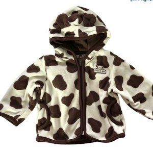 Carter's Size 9 Month Cow Peek-A-Boo Hooded Jacket